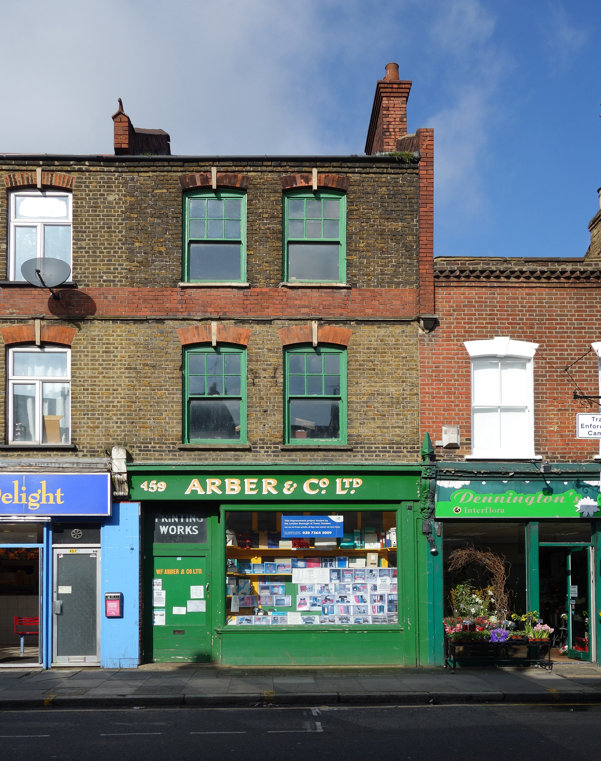 View of Arber & Co shopfront