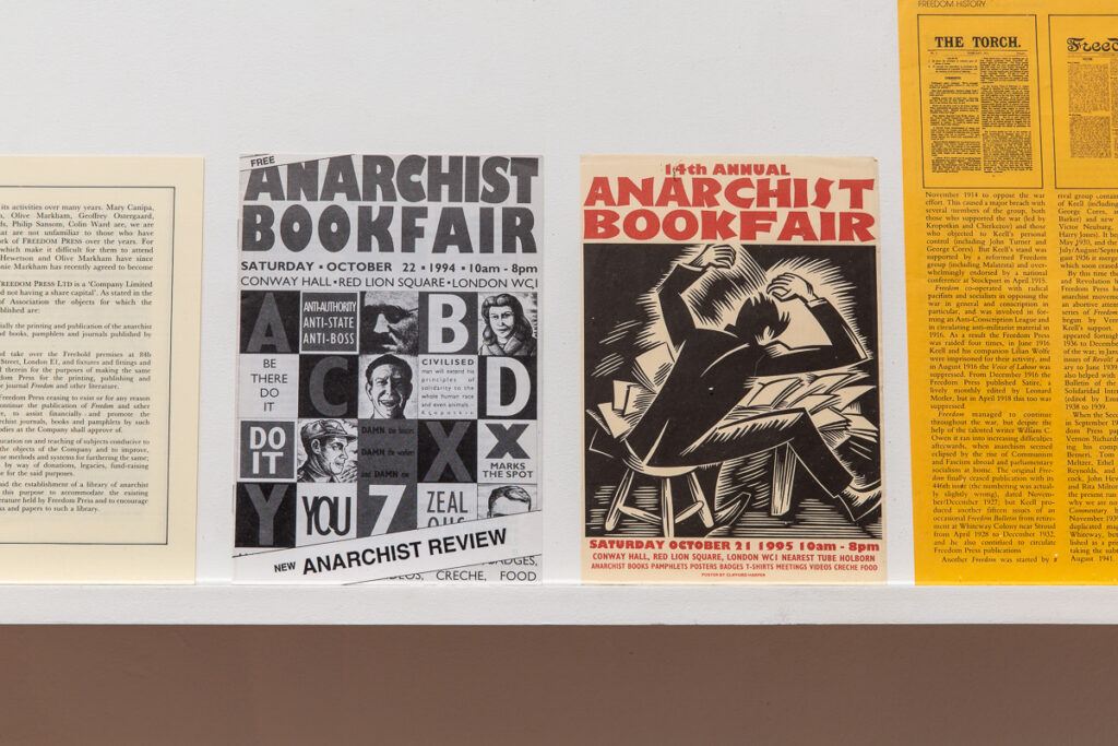 Two printed flyers 'Anarchist Bookfair'