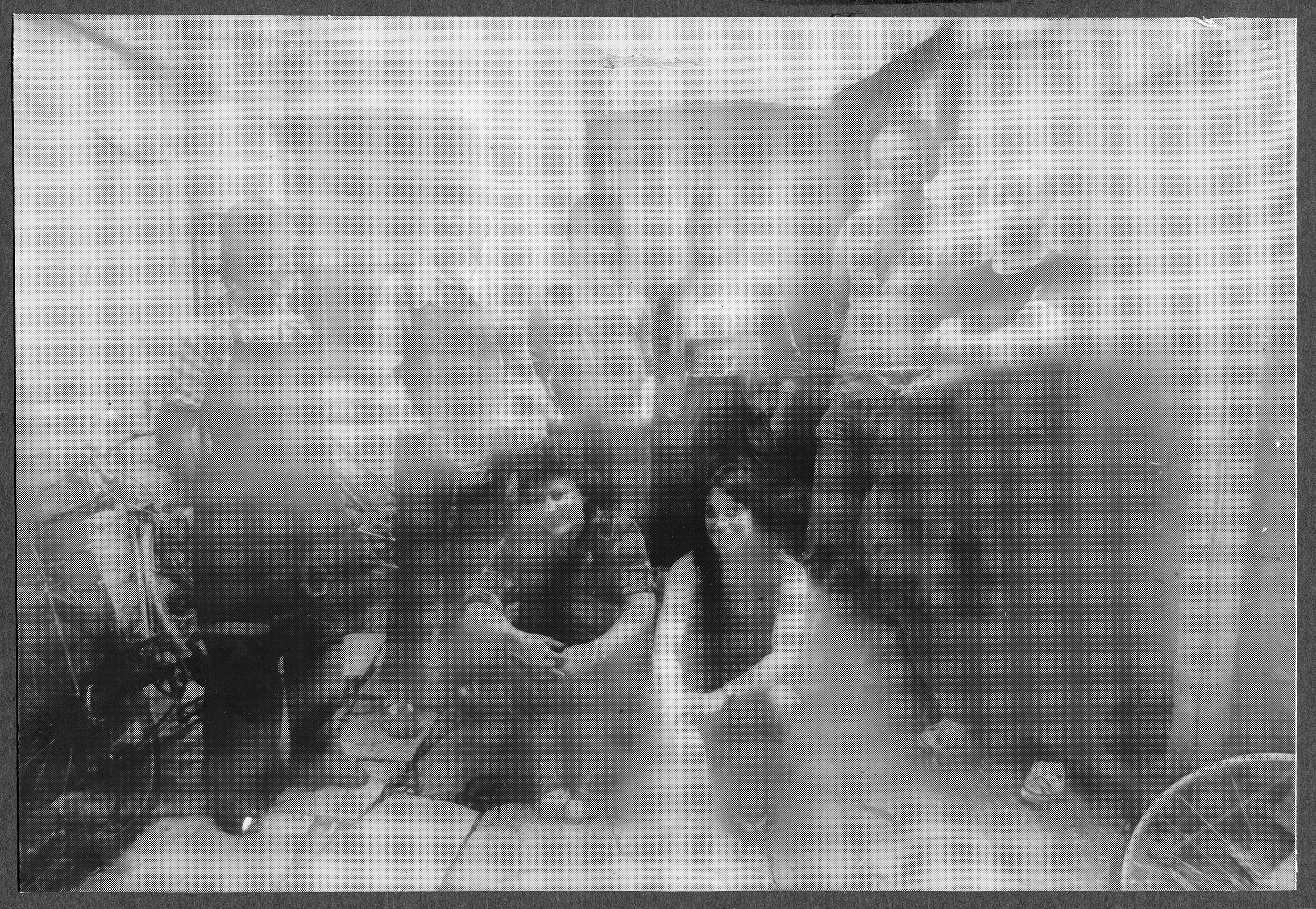 Manipulated photo of a group of people