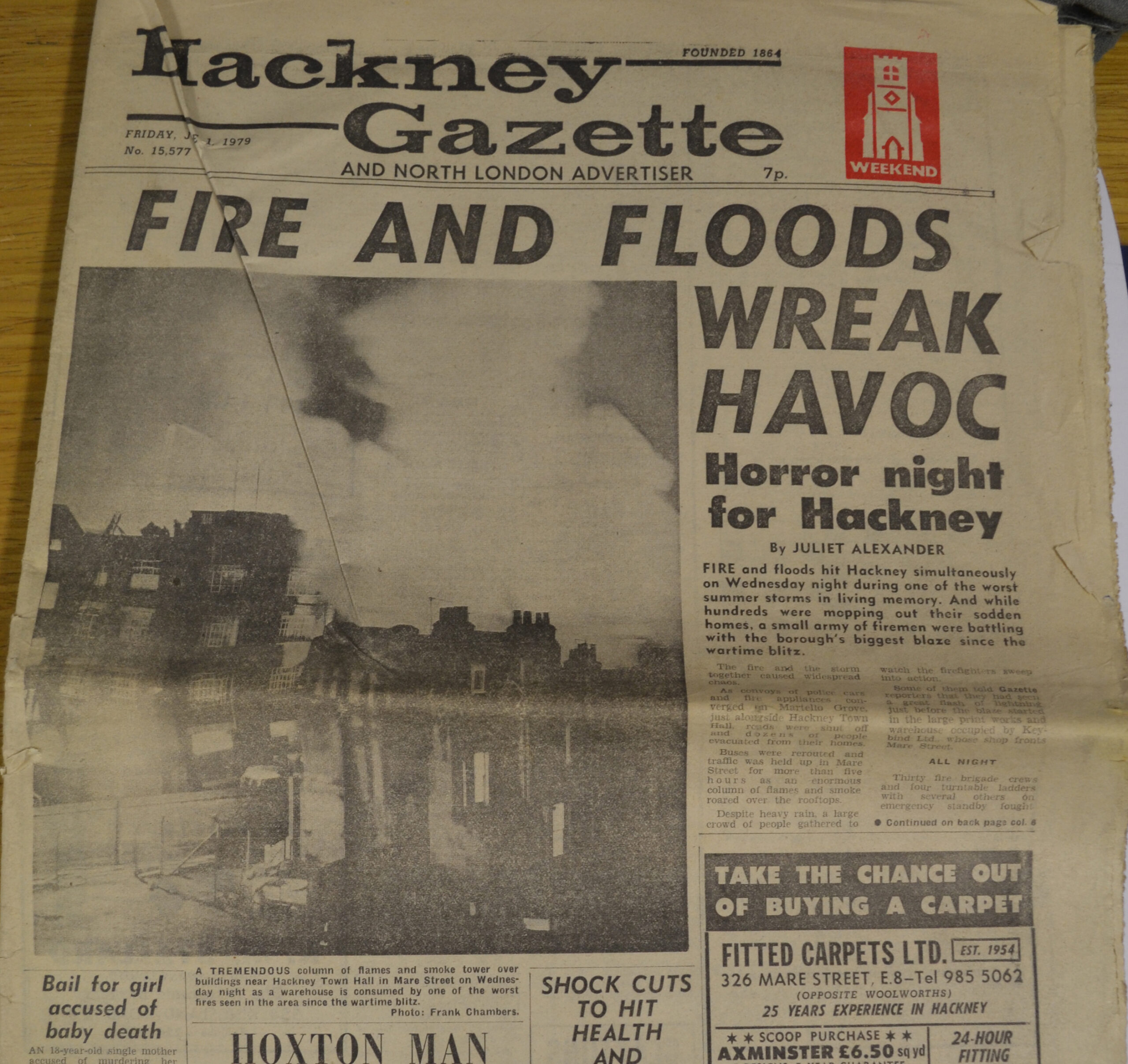 Photo of old Hackney Gazette