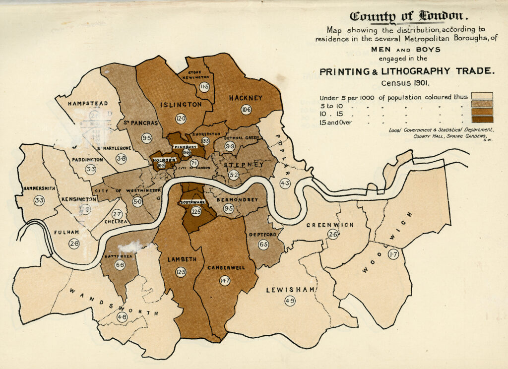 1901 census map of London