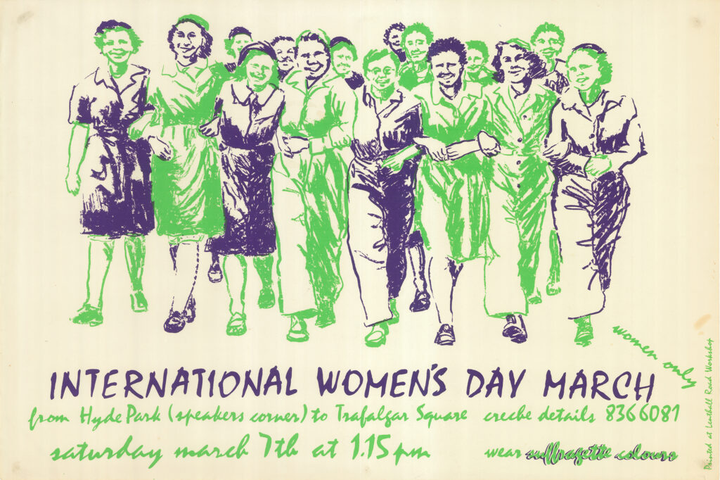 Printed poster 'International Women's Day March'