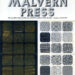 Pamphlet cover 'The Malvern Press'