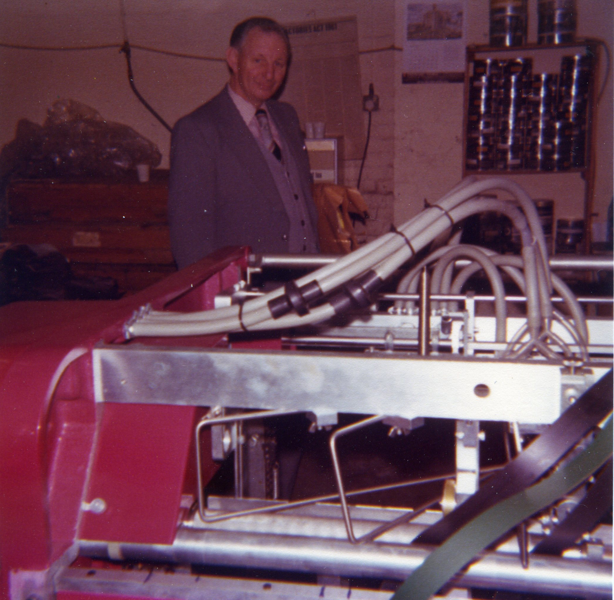 man with printing equipment